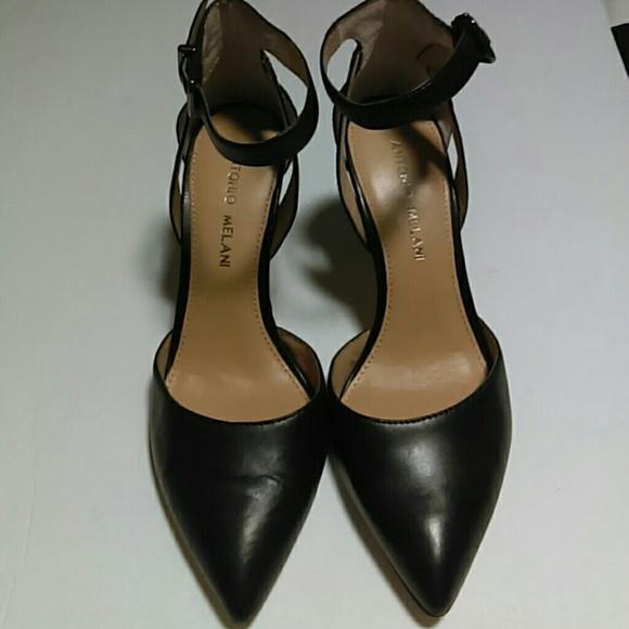2a4ece5ac29d ANTONIO MELANI Shoes - Antonio Melani Marchela Black Leather Sexy Heels